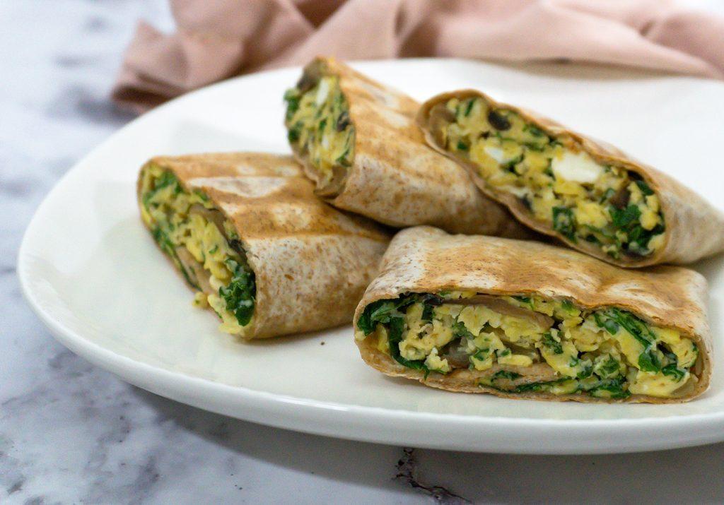 Sieni-lehtikaali-feta burritot